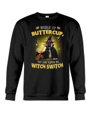 Pug and witch Crewneck Sweatshirt thumbnail