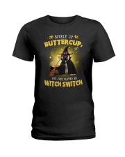 Pug and witch Ladies T-Shirt thumbnail