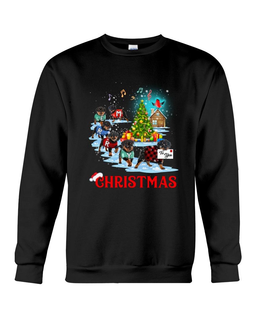 Rottweiler Merry Xmas Crewneck Sweatshirt