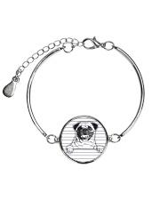 THEIA Pug Under Line 1107 Metallic Circle Bracelet thumbnail