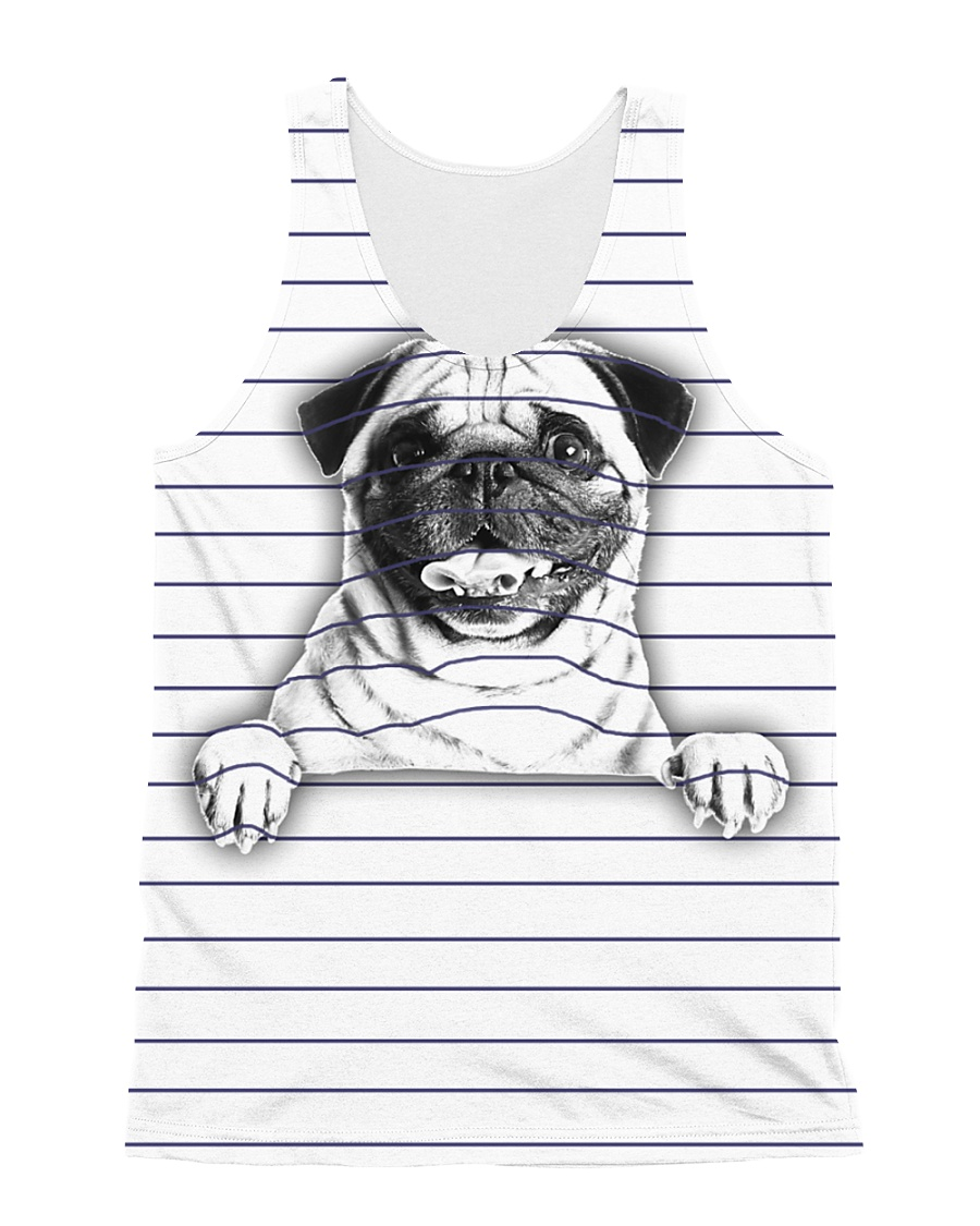THEIA Pug Under Line 1107 All-over Unisex Tank