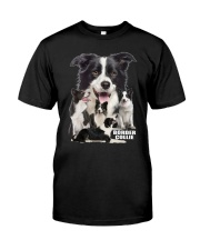Border Collie Awesome Family 0501 Classic T-Shirt front
