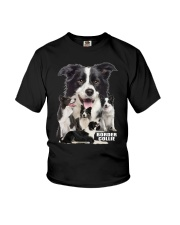 Border Collie Awesome Family 0501 Youth T-Shirt thumbnail