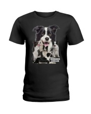 Border Collie Awesome Family 0501 Ladies T-Shirt thumbnail