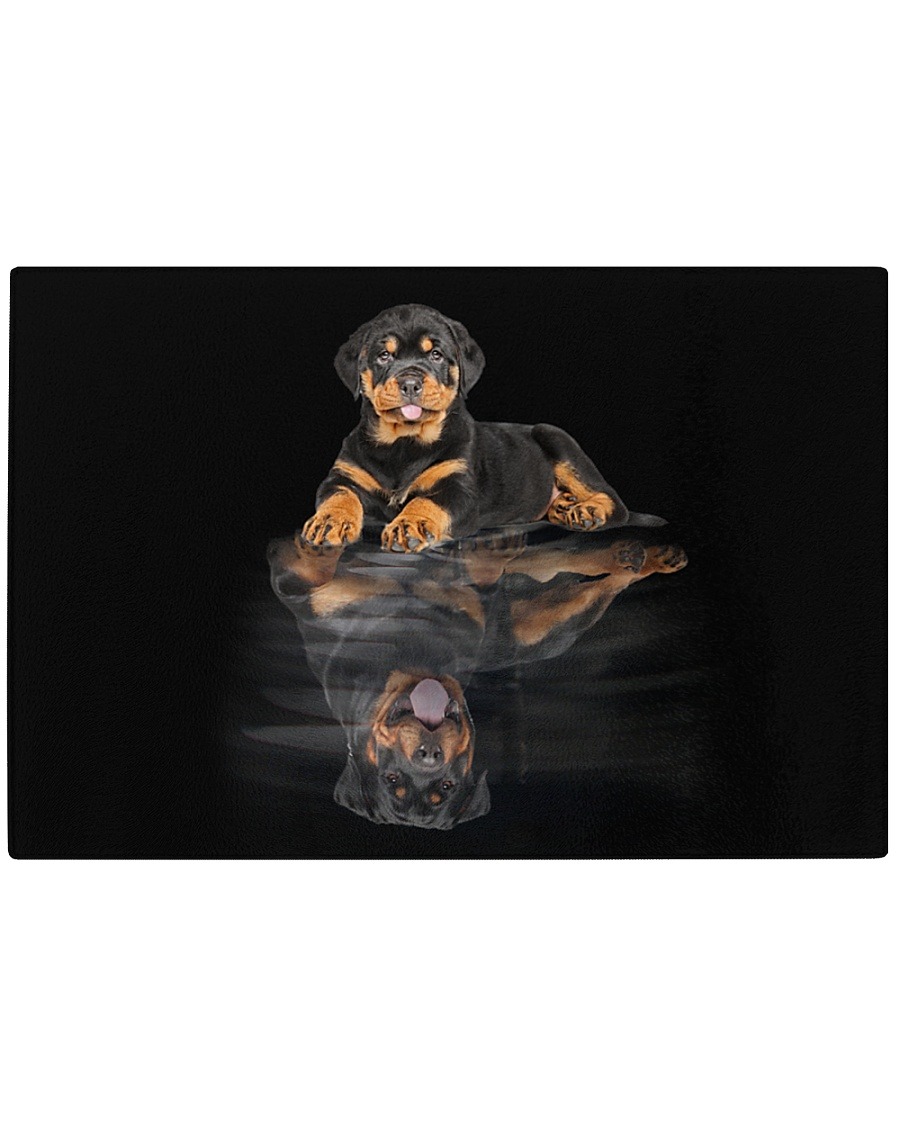 Rottweiler Believe In Yourself 2310 Rectangle Cutting Board