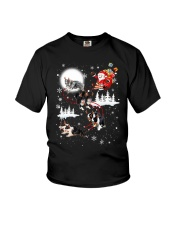 Border Collie Reindeers Youth T-Shirt thumbnail