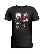 Border Collie Reindeers Ladies T-Shirt thumbnail
