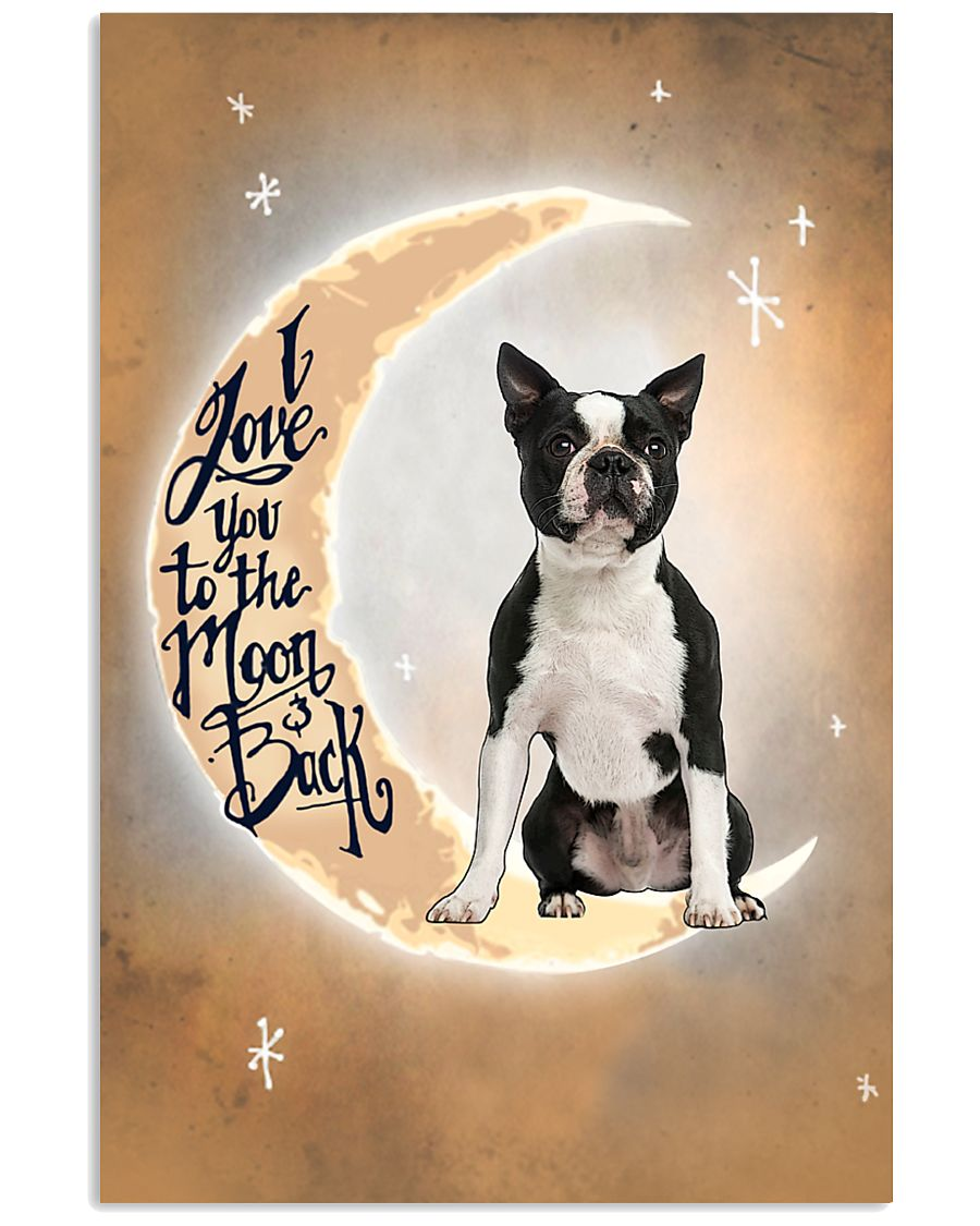 Boston Terrier I Love You Poster 2612  11x17 Poster