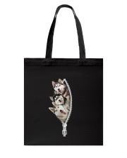 Siberian husky zip Tote Bag thumbnail