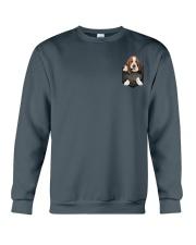 Basset Hound Pocket 4 Crewneck Sweatshirt thumbnail