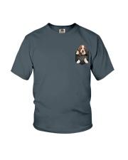Basset Hound Pocket 4 Youth T-Shirt thumbnail