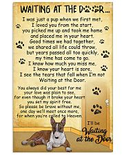 Miniature Bull Terrier Waiting at The Door 11x17 Poster front