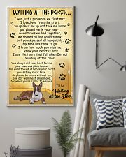 Miniature Bull Terrier Waiting at The Door 11x17 Poster lifestyle-poster-1