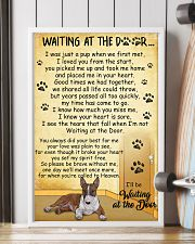 Miniature Bull Terrier Waiting at The Door 11x17 Poster lifestyle-poster-4