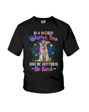 Golden Retriever and hippie Youth T-Shirt thumbnail
