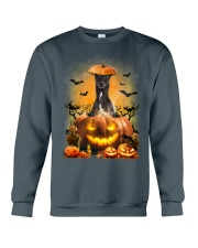 Greyhound And Pumpkin Crewneck Sweatshirt thumbnail