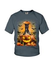 Greyhound And Pumpkin Youth T-Shirt thumbnail