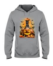 Greyhound And Pumpkin Hooded Sweatshirt thumbnail
