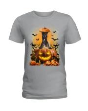 Greyhound And Pumpkin Ladies T-Shirt thumbnail