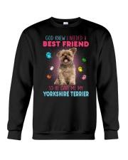 Yorkie best friend 2507 Crewneck Sweatshirt thumbnail