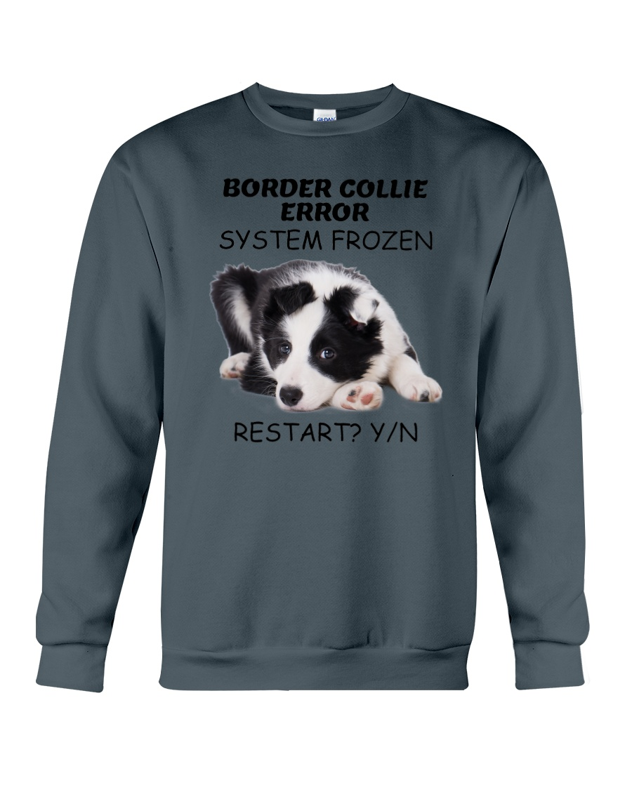 Border collie error 1606L Crewneck Sweatshirt
