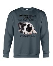 Border collie error 1606L Crewneck Sweatshirt front