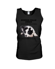 Border collie error 1606L Unisex Tank tile