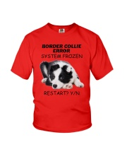 Border collie error 1606L Youth T-Shirt front