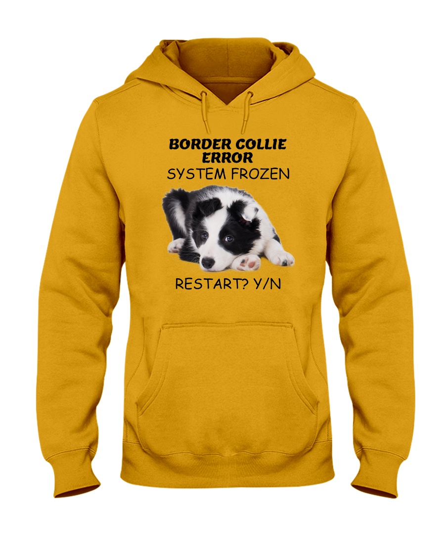 Border collie error 1606L Hooded Sweatshirt