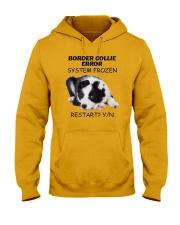Border collie error 1606L Hooded Sweatshirt front