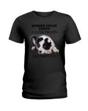 Border collie error 1606L Ladies T-Shirt tile