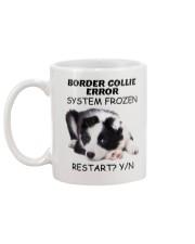 Border collie error 1606L Mug back