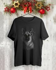 German Shepherd Half Face 2609 Classic T-Shirt lifestyle-holiday-crewneck-front-2