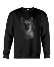 German Shepherd Half Face 2609 Crewneck Sweatshirt thumbnail