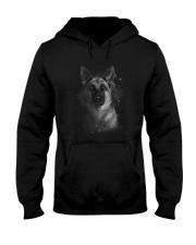 German Shepherd Half Face 2609 Hooded Sweatshirt thumbnail