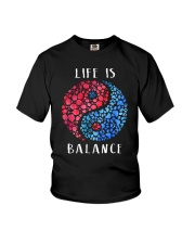 Wine And Dogs Balance Youth T-Shirt thumbnail