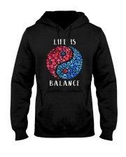 Wine And Dogs Balance Hooded Sweatshirt thumbnail