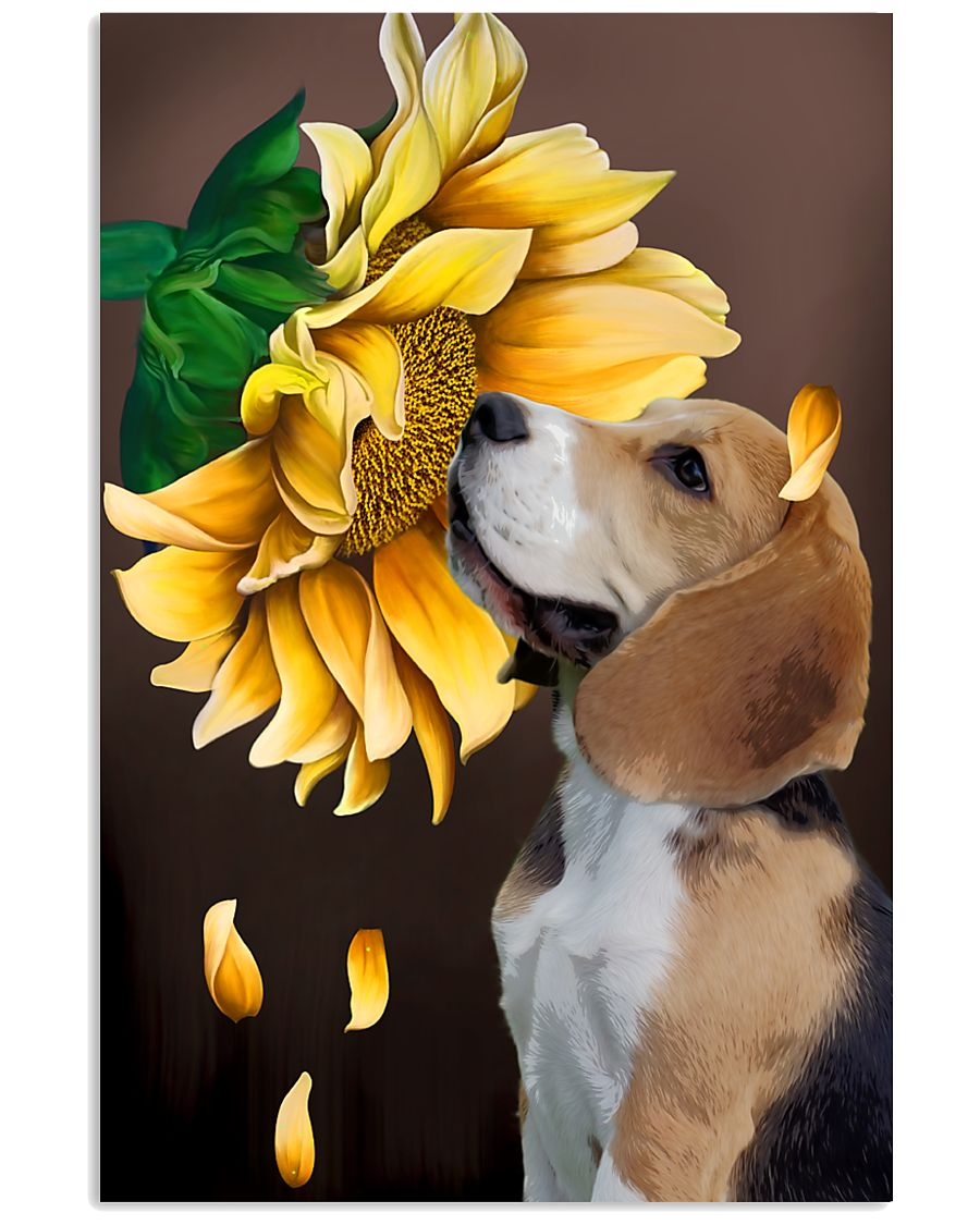 English Foxhound Sunflower 11x17 Poster
