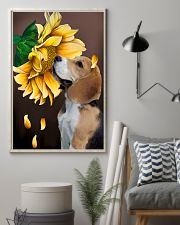 English Foxhound Sunflower 11x17 Poster lifestyle-poster-1