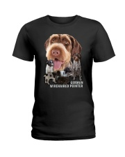 German Wirehaired Pointer Awesome Family 0701 Ladies T-Shirt thumbnail