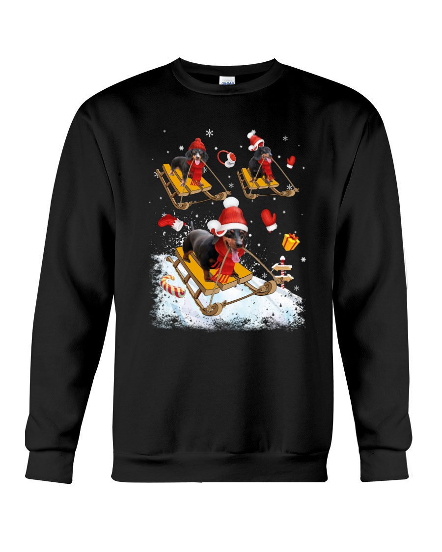 Dachshund Skiing Crewneck Sweatshirt
