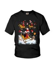 Dachshund Skiing Youth T-Shirt thumbnail
