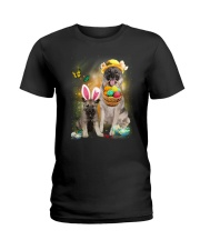 Norwegian Elkhound Happy Easter Day 2601  Ladies T-Shirt thumbnail