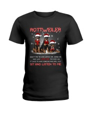 Rottweiler Listen To Me Ladies T-Shirt thumbnail