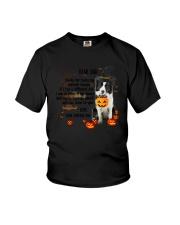 Border Collie - Dear dad Youth T-Shirt thumbnail