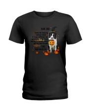Border Collie - Dear dad Ladies T-Shirt thumbnail