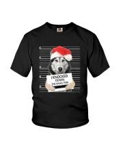 Siberian Husky Xmas Tree Youth T-Shirt thumbnail