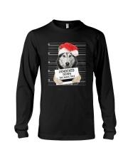 Siberian Husky Xmas Tree Long Sleeve Tee thumbnail
