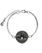 Portuguese Water Dog Striped New Metallic Circle Bracelet thumbnail
