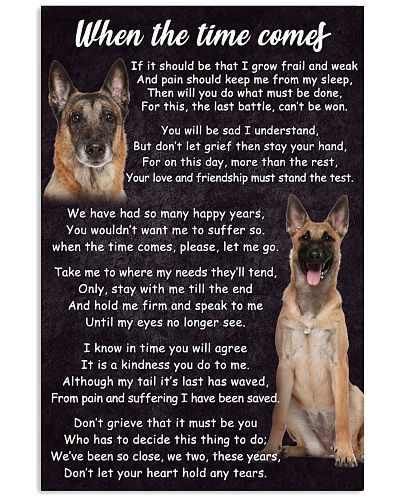 Belgian Malinois The Time Comes Poster 2301